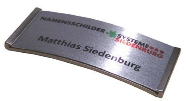 Namensschild Meridian 30 Aluxive 70x30mm